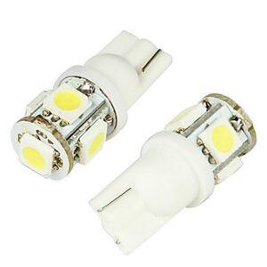 LED21 LED auto žárovka 24V T10 W5W 5 SMD 5050 bílá